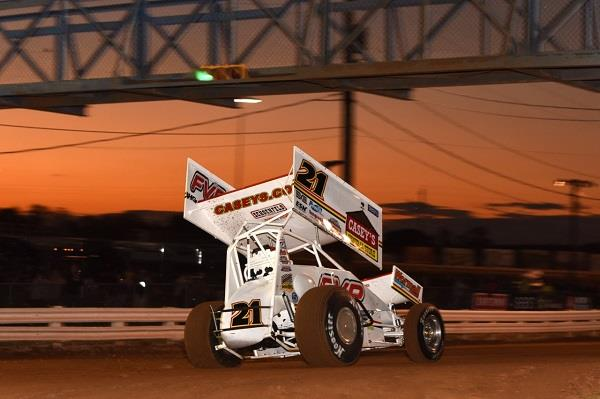 Brian races under the bridge at Williams Grove (Paul Arch Photo)